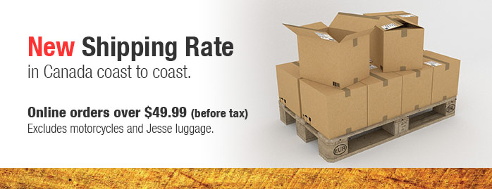 Dualsport Plus has a new shipping rate. Any online orders over 49.99 qualify for free shipping!